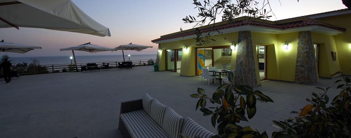 Right on the Acciaroli seafront
